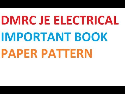 DMRC JE ELECTRICAL IMPORTANT BOOK AND PAPER PATTERN