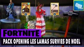 FORTNITE - SAUVER LE MONDE - PACK OPENING LAMA DE NOEL !