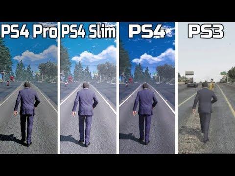 GTA 5 | PS4 Pro VS PS4 Slim VS PS4 VS PS3 | Graphics Comparison