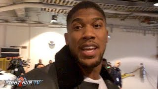 ANTHONY JOSHUA REACTS TO CANELO'S KO WIN