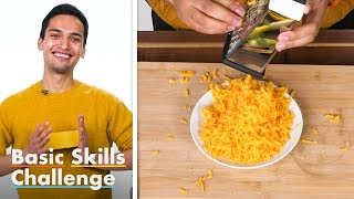 50 People Try To Grate Cheese | Basic Skills Challenge | Epicurious