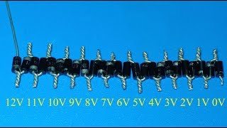 How to decrease votage using diode