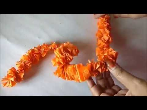 DIY Paper Garland for any occassion // DIY artificial paper Garland for diwali