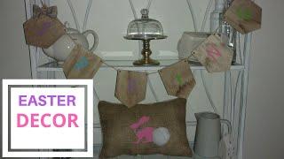 Diy Easter decor ideas/ diy Easter pillow/ diy Easter banner / cricut Easter diy