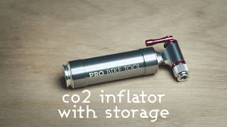 Easy and Safe PRO BIKE TOOL CO2 Inflator with Cartridge Storage Canister Quick