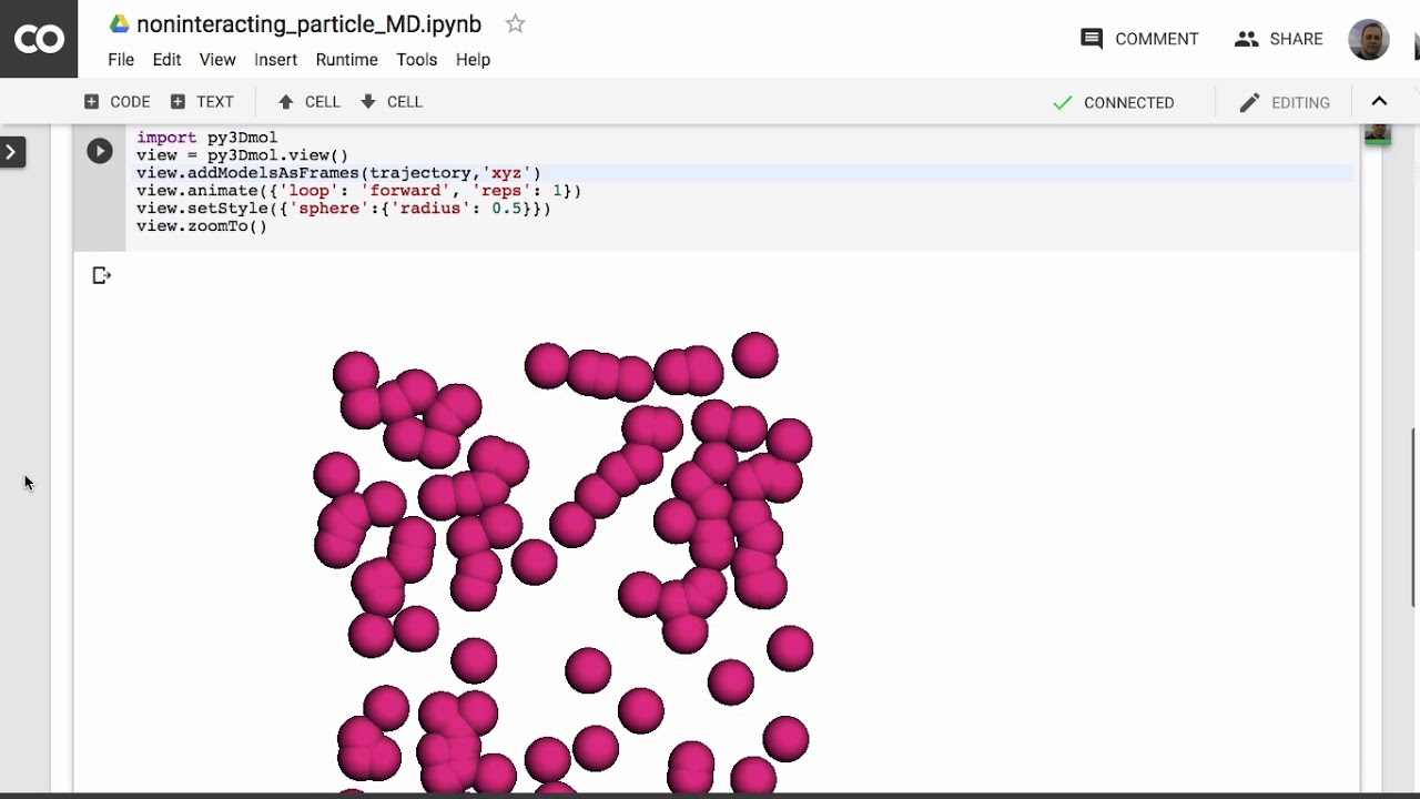 Coding noninteracting particle MD in python