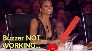 Alesha Dixon's BUZZER NOT Working - TRY NOT TO LAUGH