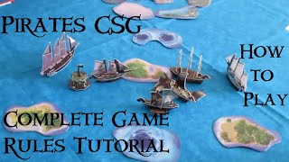 How to play Pirates Constructible Strategy Game Part 2: Complete Game rules tutorial