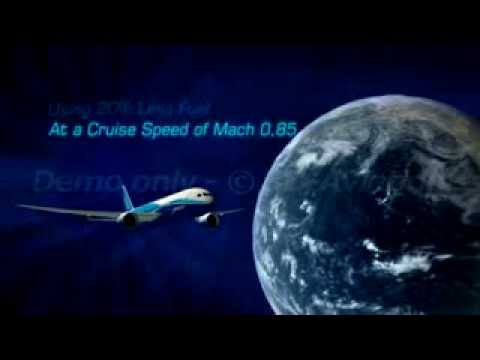 Boeing 787 Dreamliner Animation