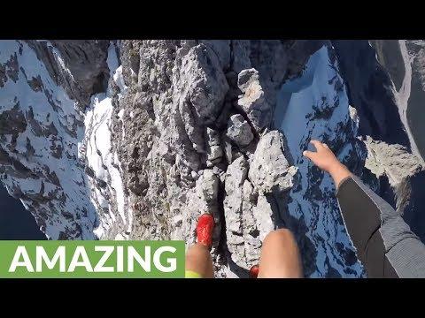 Insane Mountain Climber Scales Deadly Knife-Edge Ridge