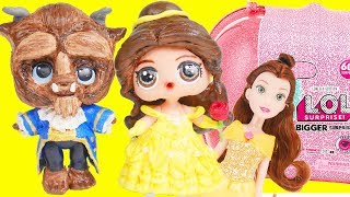 LOL Surprise Belle Beauty and the Beast DIY Makeover in Bigger Surprise | Toy Egg Videos