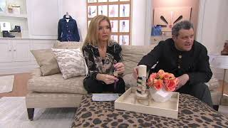 Isaac Mizrahi Live! Cushion Dial Leather Strap Watch on QVC