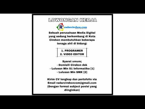 Info Loker Cirebon Bulan November 2019