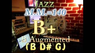 b augmented (b d# g) - jazz - m.m.=140 - one chord backing track