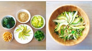 Quinoa Chickpea Salad With Pear & Avocado (high Protein Lunch For A Flat Belly!)
