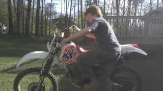 1994 Honda XR250 startup - with CRF250R pipe