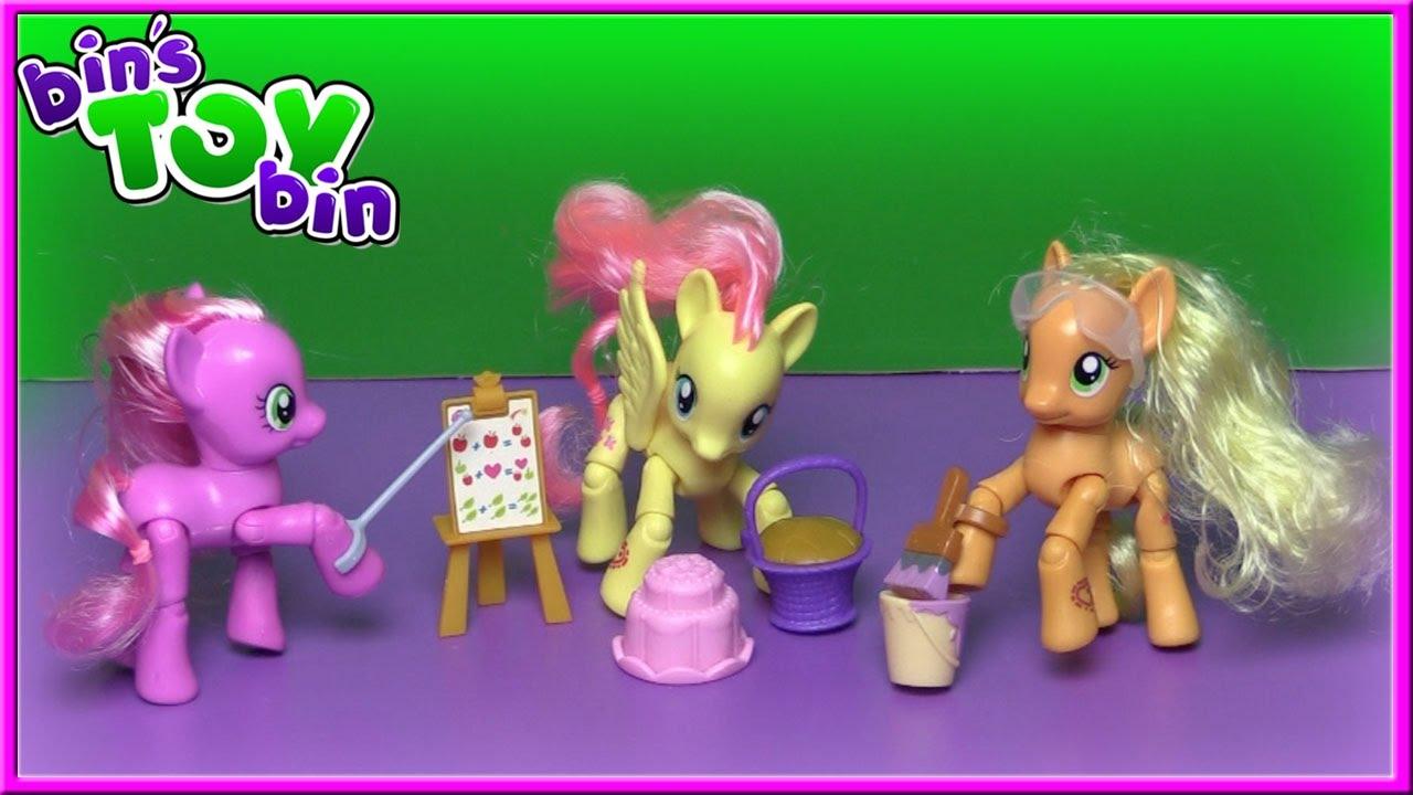 my little pony fluttershy cheerilee applejack poseable ponies