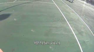 테니스 서브 - 소니 액션캠 1인칭시점 촬영