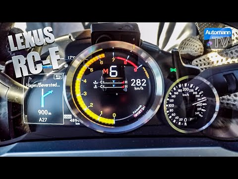 Lexus RC F (477hp) - 0-283 km/h LAUNCH START (60FPS)