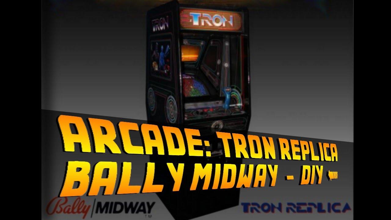DIY Tron Arcade Machine - Bally Midway Replica - YouTube