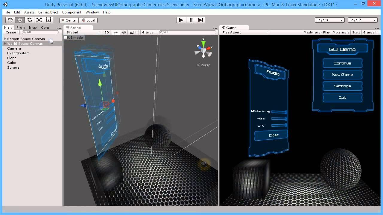 Unity3d Scene View UI Camera