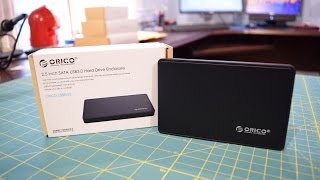 "ORICO 2.5"" USB 3.0 Toolless SATA Hard Drive Enclosure Unboxing and Review"
