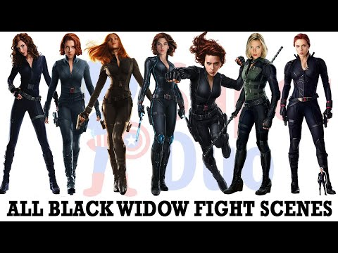 All Black Widow fight scenes | Including Avengers Endgame - SuperDuo