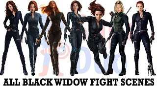All Black Widow Fight Scenes  Ncluding Avengers Endgame