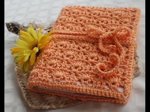 Crochet Book Cover With Bookmark Designs Youtube