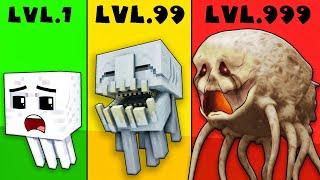 CROOK GHAST LVL 1 Vs VILLAIN LVL 99 Vs BOSS LVL 999999 At Monster School