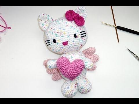 Hello Kitty tejida a crochet (amigurumi) Parte 1: cabe ...