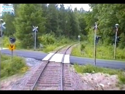 Sweden. Inland Railway: PERSBERG - FILIPSTAD (2005) Train Driver's Cab View drom Y1 1306.