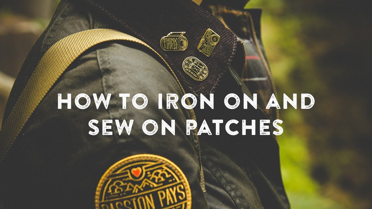 How To Iron On Patches And Sew On By Asilda Store