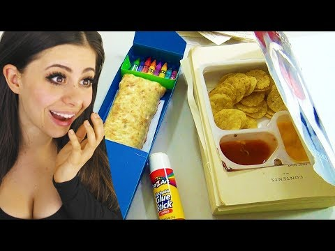 BEST SCHOOL HACKS ! (sneak food into class)