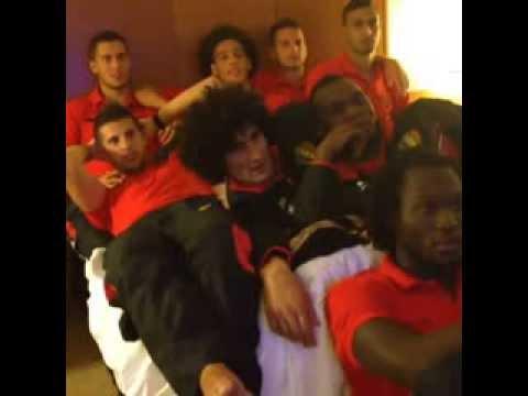 Belgium football team watching a good movie - Lukaku Hazard Benteke Witsel