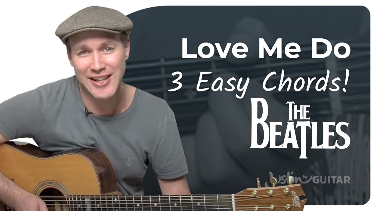 Love Me Do - The Beatles (Very Easy Beginner Song Guitar Lesson BS-108) How  To Play