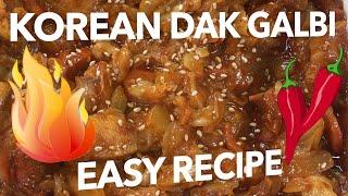 Korean Dak Galbi 닭갈비  Easy Recipe