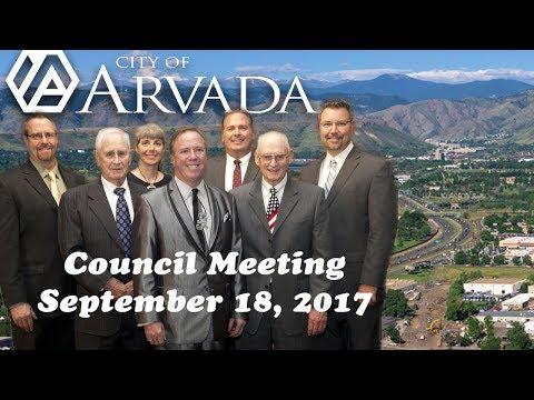 City Council Meeting - September 18, 2017