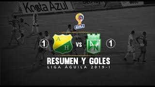 Huila vs Nacional: resumen y goles del partido 1-1 Liga Águila 2019-I