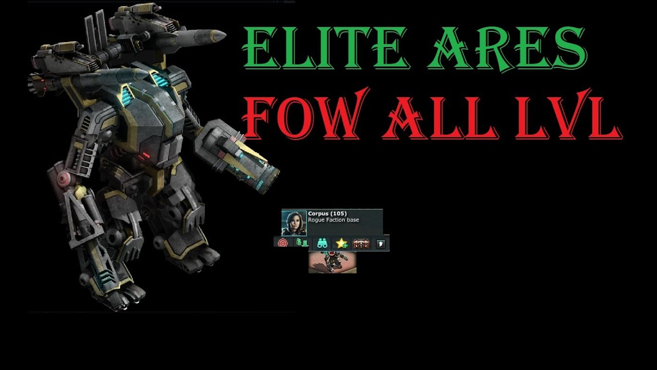 War Commander : Elite Ares Base (105) With Absolvers.