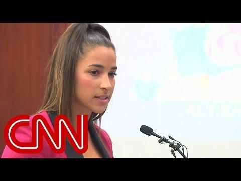 Watch Aly Raisman confront Larry Nassar in court