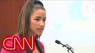Watch Aly Raisman confront Larry Nassar in court