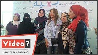 ليلى علوى تزور مرضى سرطان الثدى بمستشفى بهية