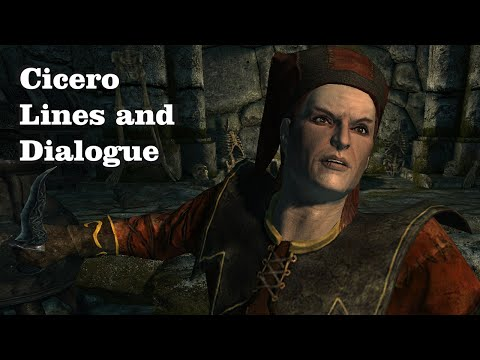 Every Cicero Line and Dialogue in Skyrim