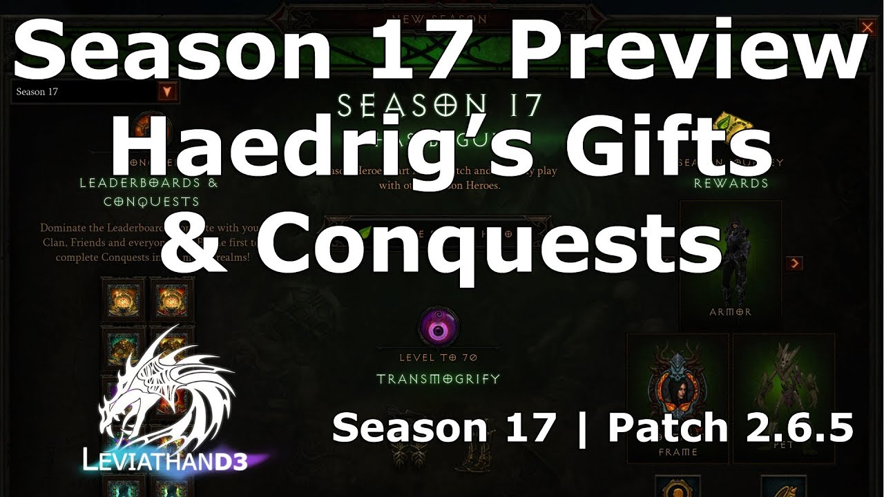 Season 17 Preview – Conquests, Haedrig's Gifts, New Wings