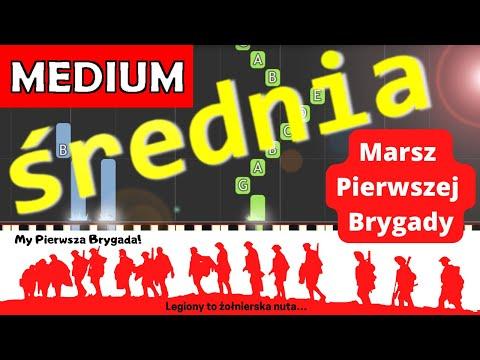 🎹 Pierwsza brygada (Marsz pierwszej brygady) - Piano Tutorial (średnia wersja) 🎹