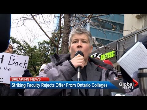 Ontario College Strike - Day 31 - Victorious faculty resoundingly REJECTS CEC offer - November 2017
