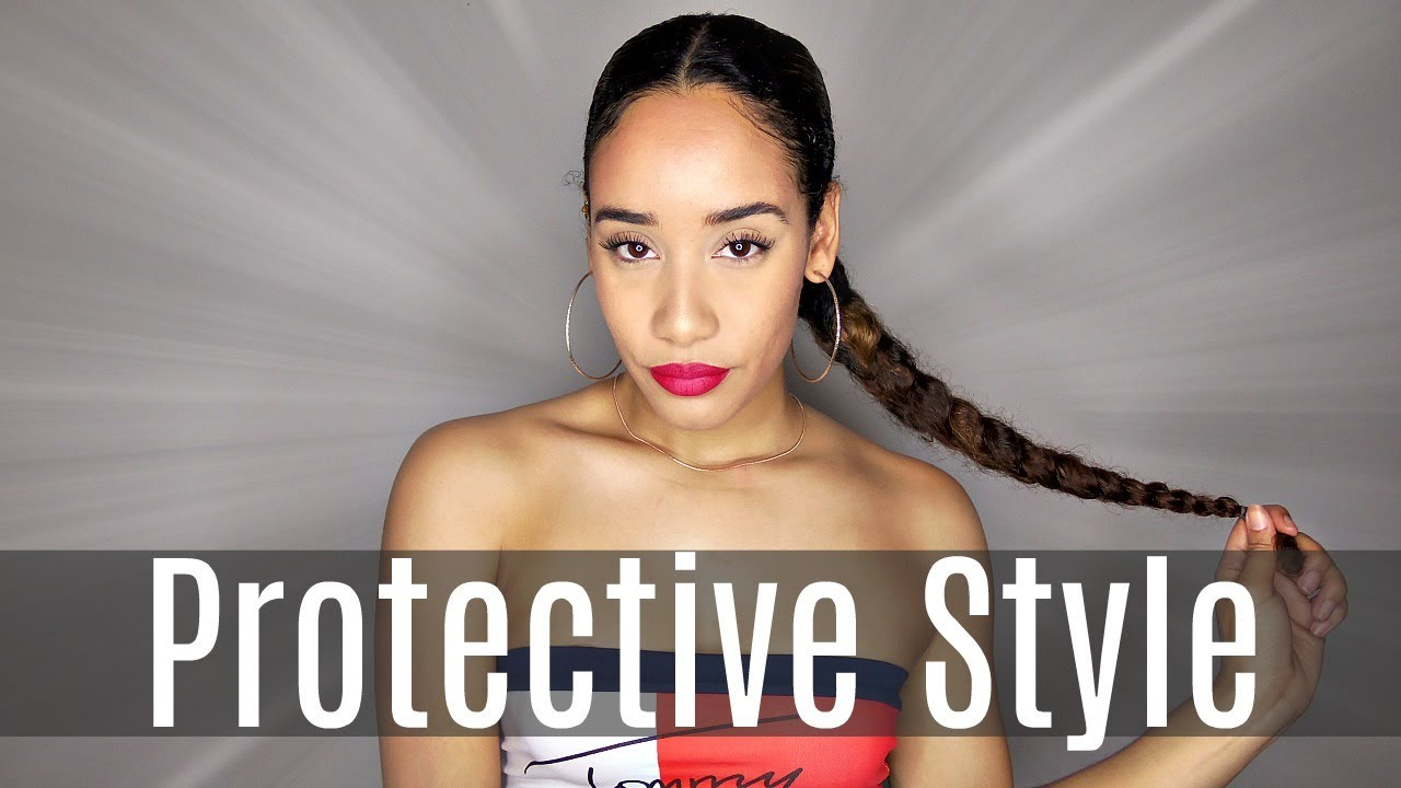 Sleek Protective Hairstyle For Curly Hair Youtube