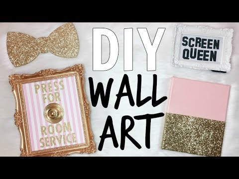 DIY WALL ART ♡ PINK & GOLD ♡ Studio & Office Makeover Series ♡ EP. 6