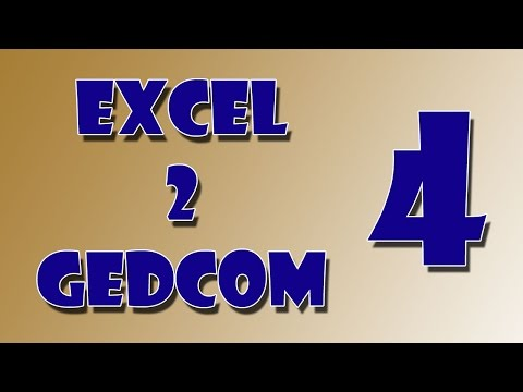 Excel to Gedcom - Lesson 04 [Migration sheet conversion with Sources]